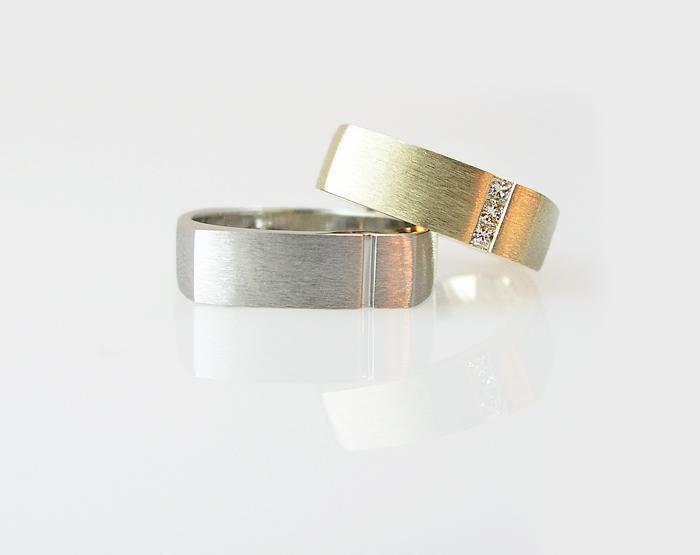 Matching Gold Arc Wedding Bands