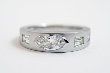Repurposed Marquise Diamond Half Bezel Ring
