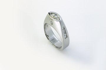 Repurposed Marquis and Baguette Diamond Ring
