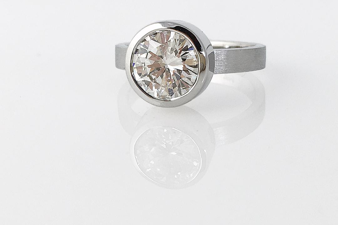 Round Diamond Bezel Ring